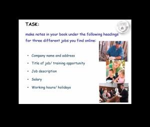 A screenshot of a SLES online training task